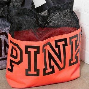 NEW Victoria's Secret PINK Mesh Tote Bag NWT